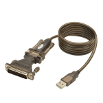 Tripp Lite 5' USB to Serial Adapter Cable (USB-A to DB25 M/M)