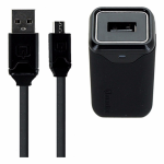 Qmadix 2.1 Amp Wall Charger with 6 Ft Micro USB Flat Cable - Black
