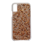 Case-Mate Karat Series Hard Case for Apple iPhone X 10 - Rose Gold Flakes/Clear