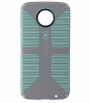 Speck CandyShell Grip Series Hardshell Case for Moto Z Droid - Gray/Light Green
