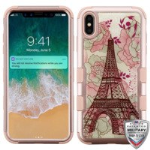 MYBAT Eiffel Tower (Rose Gold)/Rose Gold TUFF Krystal Gel Hybrid Protector Cover [Military-Grade Certified]