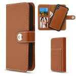 MYBAT Brown Detachable Magnetic 2-in-1 MyJacket Wallet (TPU Case + Leather Folio)(PR263) -WP
