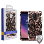 MYBAT Phoenix Flower (2D Rose Gold)/Black TUFF Hybrid Phone Protector Cover [Military-Grade Certified]