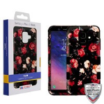 MYBAT Red and White Roses/Black TUFF Hybrid Phone Protector Cover [Military-Grade Certified]