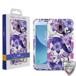 MYBAT Purple Hibiscus Flower Romance/Electric Purple TUFF Hybrid Phone Protector Cover [Military-Grade Certified]