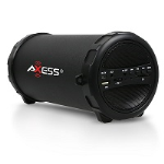 Axess Black Bluetooth Portable Speaker 1031