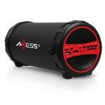 Axess Red Bluetooth Portable Speaker 1031