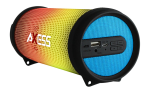 Axess Mini Portable Hi-Fi Bluetooth Speaker with Dancing LED Lights - Blue
