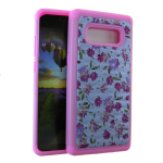 HYB F 2 in 1 Case. Rhinestone on Flower Design
