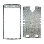 XL Rocker Snap Rocker Snap-On, Transparent Glitter Metalic Gray