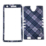 XL Rocker Snap Rocker Snap-On, White and Gray Plaid