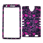XL Rocker Snap Rocker Snap-On, Pink Hearts on Black