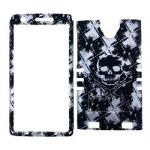 XL Rocker Snap Rocker Snap-On.Trans. Design. Skull on Black/White