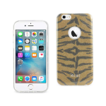 Reiko iPhone 6/ 6S Shine Glitter Shimmer Tiger Stripe Hybrid Case In Yellow