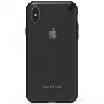 APPLE IPHONE X PUREGEAR SLIM SHELL CASE - CLEAR/BLACK