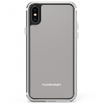APPLE IPHONE X PUREGEAR GLASSBAK 360 SERIES CASE - SILVER