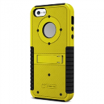APPLE IPHONE 5S/5/SE BEYOND CELL TRI SHIELD CASE - BLACK/YELLOW