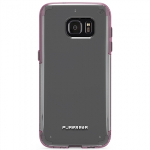 SAMSUNG GALAXY S7 EDGE PUREGEAR SLIM SHELL PRO SERIES CASE - CLEAR/PINK