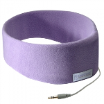 SLEEPPHONES CLASSIC HANDSFREE HEADPHONES IN COMFY FLEECE HEADBAND 3.5MM JACK - MEDIUM - LAVENDER