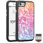 Cellairis Rapture Case for Apple iPhone 7 - Rapt BK Lace Fade Orange