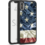 Cellairis Aero Case for Apple iPhone X/XS - Slim Flag USA Mylar 3