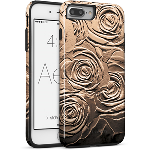 Cellairis Aero Case for Apple iPhone 7 Plus/8 Plus - Aero Flowers Metal Rose Bron