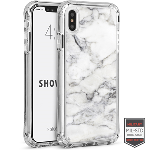 Cellairis Aero Case for Apple iPhone XS Max - Showcase Clear Marble Bianco White