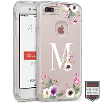 Cellairis Rapture Case for Apple iPhone 7 Plus - Rapture Clear Monogram Floral M