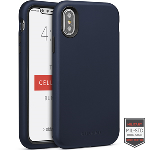 Cellairis Aero Case for Apple iPhone X/XS - Rapture Navy Blue/Black Matte Finish