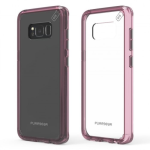 SAMSUNG GALAXY S8+ PUREGEAR SLIM SHELL PRO CASE - CLEAR/PINK