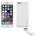 Skinplayer Sliding Card Case for Apple iPhone 6 / 6S (White)
