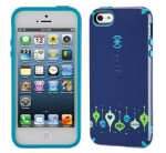 Speck Products SPK-A1851 CandyShell Holiday Glossy Case for iPhone (BeBaubled Midnight Blue/Peacock Blue)
