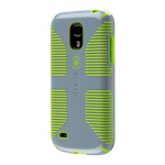 Speck CandyShell Grip Case for Samsung Galaxy S4 Mini - Grey/Lime