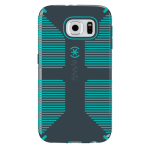 Speck CandyShell Grip Case for Samsung Galaxy S6 (Charcoal Gray/Green)
