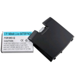 WirelessXGroup 1400 mAh Li-Ion Extended Battery with Black Door for Motorola Q
