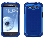 Ballistic Shell Gel Maxx Case and Holster for Samsung Galaxy S3 - Navy Blue/Cobalt