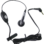 Motorola 2.5mm Headset, One Touch Answer/End Headset - Black (Universal 2.5mm)