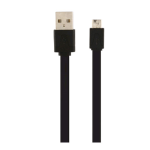 Wireless Xcessories Group Micro USB Sync and Charge Cable, Flat Silicone Cable - Black