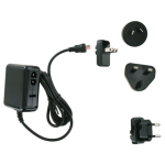 Unlimited Cellular Micro USB International Travel Charger Kit for Samsung Galaxy S3, S2 (Black) - TCK-K2