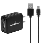 CyonGear 5W /1 Amp Home Charger with 4 ft Micro USB Cable - Black