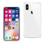 Reiko iPhone X Clear Bumper Case With Air Cushion Protection In Clear