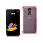 Reiko Bumper Case With Air Cushion Protection For LG Stylus 2 - Clear Hot Pink