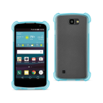 Reiko LG Spree Clear Bumper Case With Air Cushion Protection In Navy