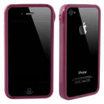TPU Bumper for Apple iPhone 4S/4 - Dark Pink