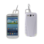 Reiko - TPU/PC Protector Coverwith Hook for SAMSUNG GALAXY S III I9300 - White
