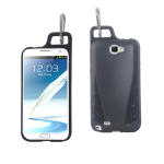 Reiko - TPU/PC Protector Cover WITH HOOK Samsung GALAXY Note II N7100 - Black