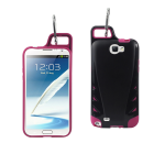 Reiko - TPU/PC Protector Cover WITH HOOK for Samsung GALAXY Note II N7100 - Black