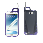 Reiko - TPU/PC Protector Cover WITH HOOK Samsung GALAXY Note II N7100 - Black/Purple