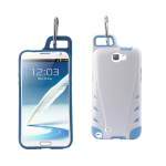 Reiko - TPU/PC Protector Cover WITH HOOK for Samsung GALAXY Note II N7100 - White/Navy