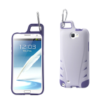 Reiko - TPU/PC Protector Cover WITH HOOK for Samsung GALAXY Note II N7100 - White/Purple